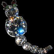 Stunning Sparkling Rhinestone Cat Figural Pin