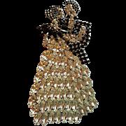 Humongous Dancing Couple Figural Pin
