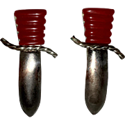 Bakelite Sword Fur Clips