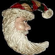 Father Christmas Vintage Santa Pin