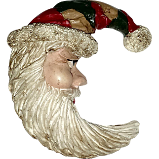 Father Christmas Vintage Santa Pin
