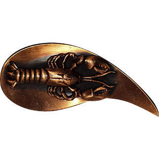 Copper Lobster Pin