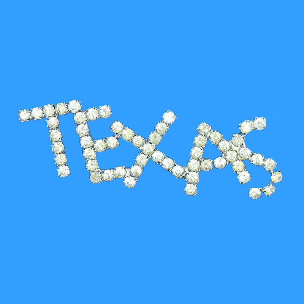 Texas Lone Star State Rhinestone Name Pin