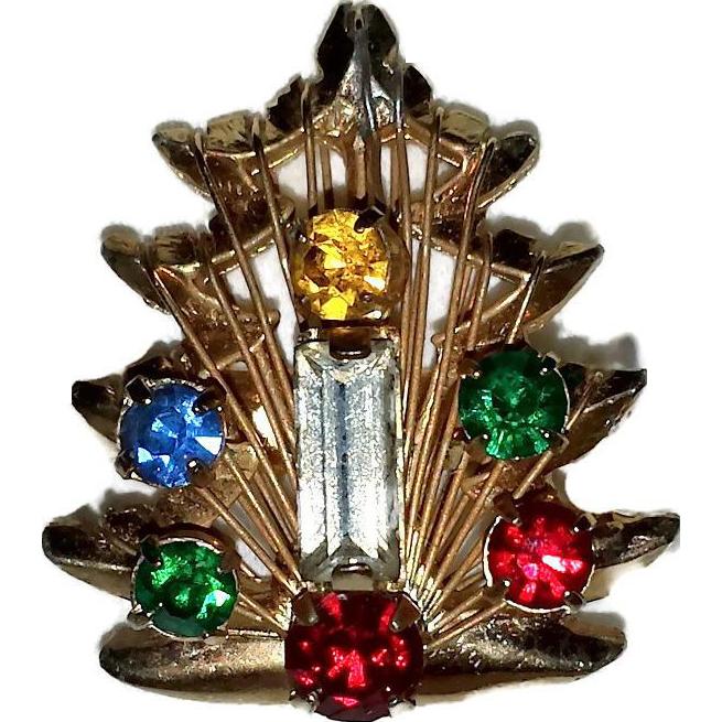 Vintage christmas tree ring from kayejaye on ruby lane