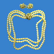 Shades of Yellow Necklace & Earrings Set
