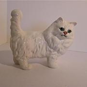 Beswick Cat - White Persian, Large Eyes, Model No. 1898