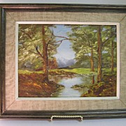 "Original Oil on Board L. Steeves entitled ""Reflections"""