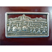 Edwardian Bakelite Calling Card Case with German Silver Motif