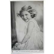 Tuck's Royalty Real Photo Postcard - HM Princess Margaret Rose of York