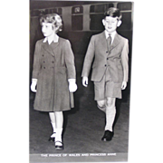 Lansdowne Publishing Real Photo Postcard - HM The Prince of Wales and HM Princess Anne