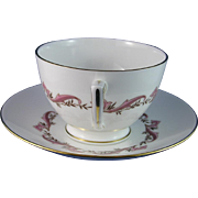 Minton Laurentian (Gold) Footed Teacup and Saucer