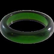 Transluscent Apple Green Bakelite Bangle