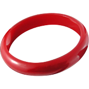 Candy Apple Red Bakelite Bangle