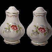 Royal Albert (England) Jubilee Rose - Salt and Pepper Shakers