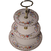 Royal Albert (England) Jubilee Rose - Three Tier Cake Stand