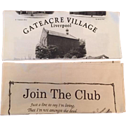 Vintage British Souvenir Linen Tea Towels - Gateacre Village Liverpool and Join The Club