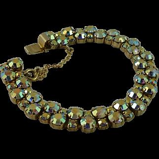 Sherman Two Strand Aurora Borealis Bracelet