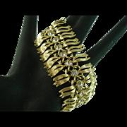 Classy Goldtone and Clear Rhinestone Lisner Bracelet