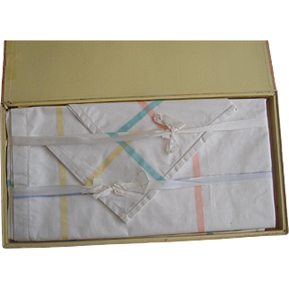 Mondini Italy Fine Linen Table Cloth and Napkin Set NOS