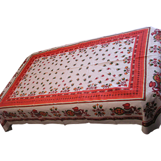 Fabulous Fall Festive Linen Tablecloth