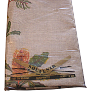 NOS Pure Linen Australia Souvenir Table Cloth