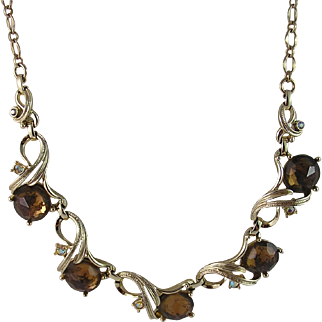 Sarah Coventry Gold n Glory Necklace