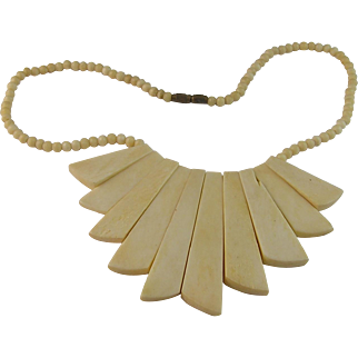 Modernistic Bone Necklace