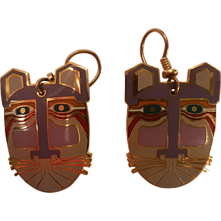 Laurel Burch Miikio French Hook Earrings