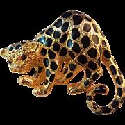Purrrrfect Vintage Park Lane Crouching Leopard Brooch