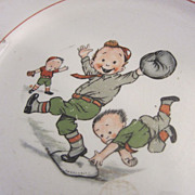 Old Baseball Plate Homer Laughlin  Charming
