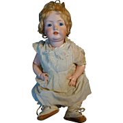 "Antique German Bisque Head Large 24"" Doll Composition Body & Provenance"