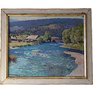 Robert Atwood Painting of Bucolic Landscape