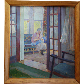 Robert Atwood Painting of Lady in Light