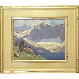 Oil Painting by Leland Curtis of the Sierras