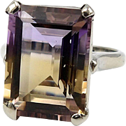 14kt White Gold and Ametrine Ring