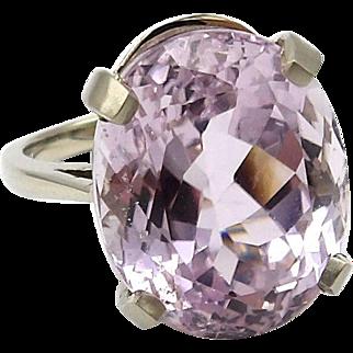 14kt White Gold and Kunzite Ring
