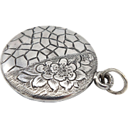 Aesthetic Movement Sterling Silver Mirror Medallion