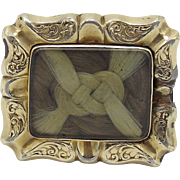 Georgian Lover's Knot Mourning Brooch