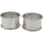 Vintage Taxco Silver Castillo Brothers Napkin Rings