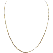 14kt Yellow, Rose, and White Gold Braided Necklace