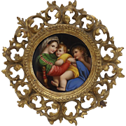 1920's Hand-Painted Porcelain Raphael Painting