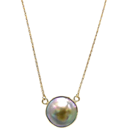 14kt Gold Blister Pearl Necklace