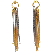 14kt Tri Color Gold Tiny Door Knocker Earrings