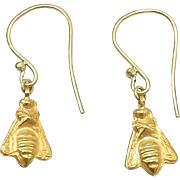 21KT Gold Antique Afghanistan Bee Earrings