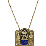 Sterling Silver & 18KT Yellow Gold Kohen-Gadol Necklace with Gemstones
