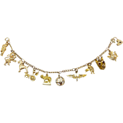 Stunning 9kt-18kt Gold Victorian Charm Bracelet