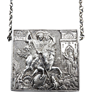 Sterling Silver Astro-Hungarian Silver Box Reliquary with Chain