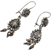 Sterling Silver & Diamond Collette Georgian Earrings