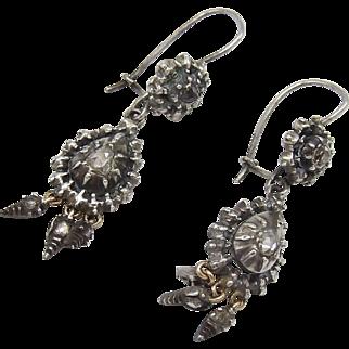 Sterling Silver & Diamond Collette Georgian Earrings