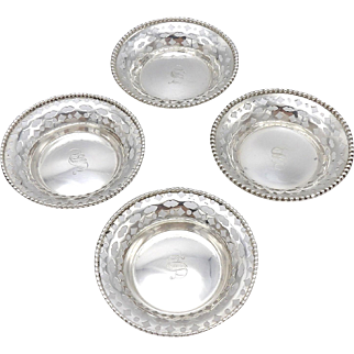 Set of Four Sterling Silver Nut Dishes